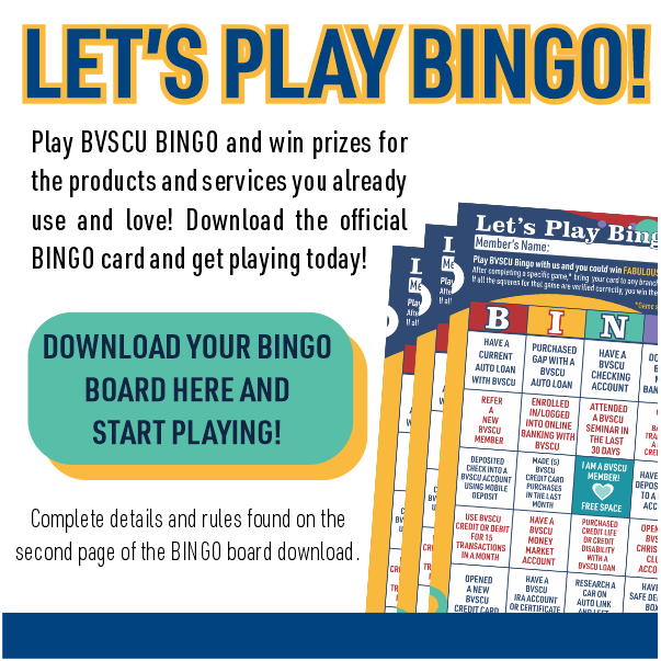 Graphic showing bingo card for member bingo game