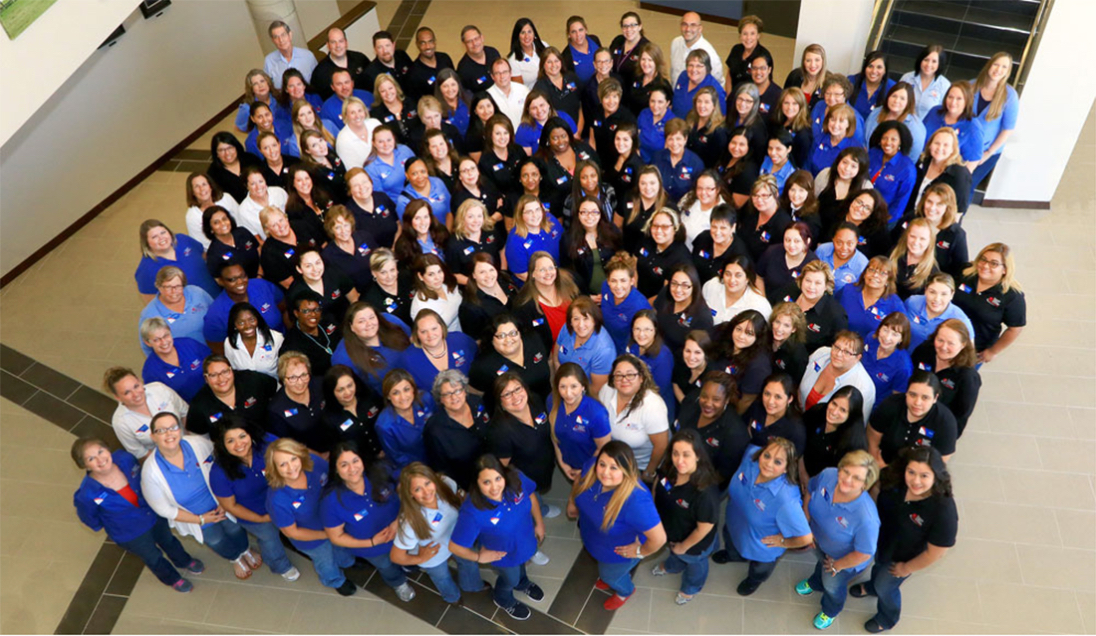 Group photo of Brazos Valley Schools Credit Union staff